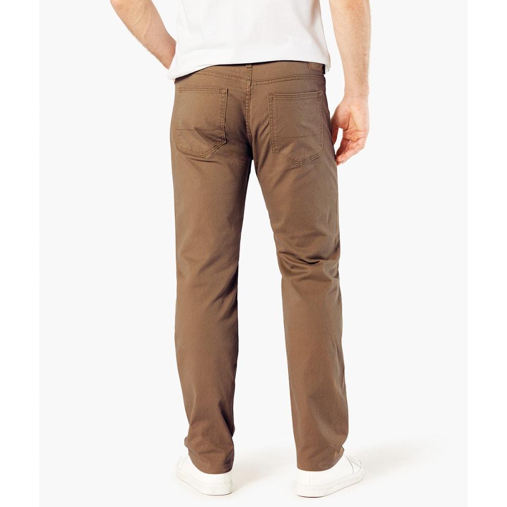 DOCKERS Men's Jean Cut 5-Pocket Straight Leg Twill Pants - DARK PEBBLE 0038