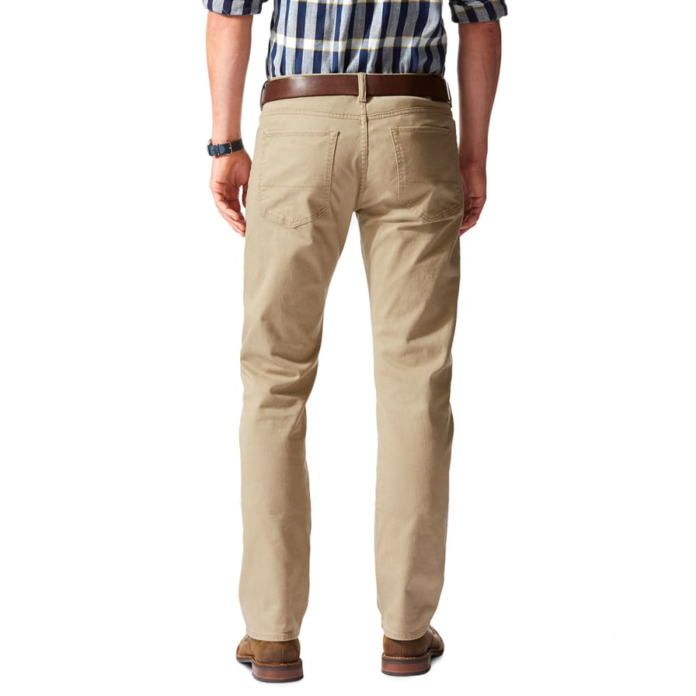 DOCKERS Men's 5-Pocket Straight Leg Twill Pants, British Khaki - BRITISH KHAKI 0001
