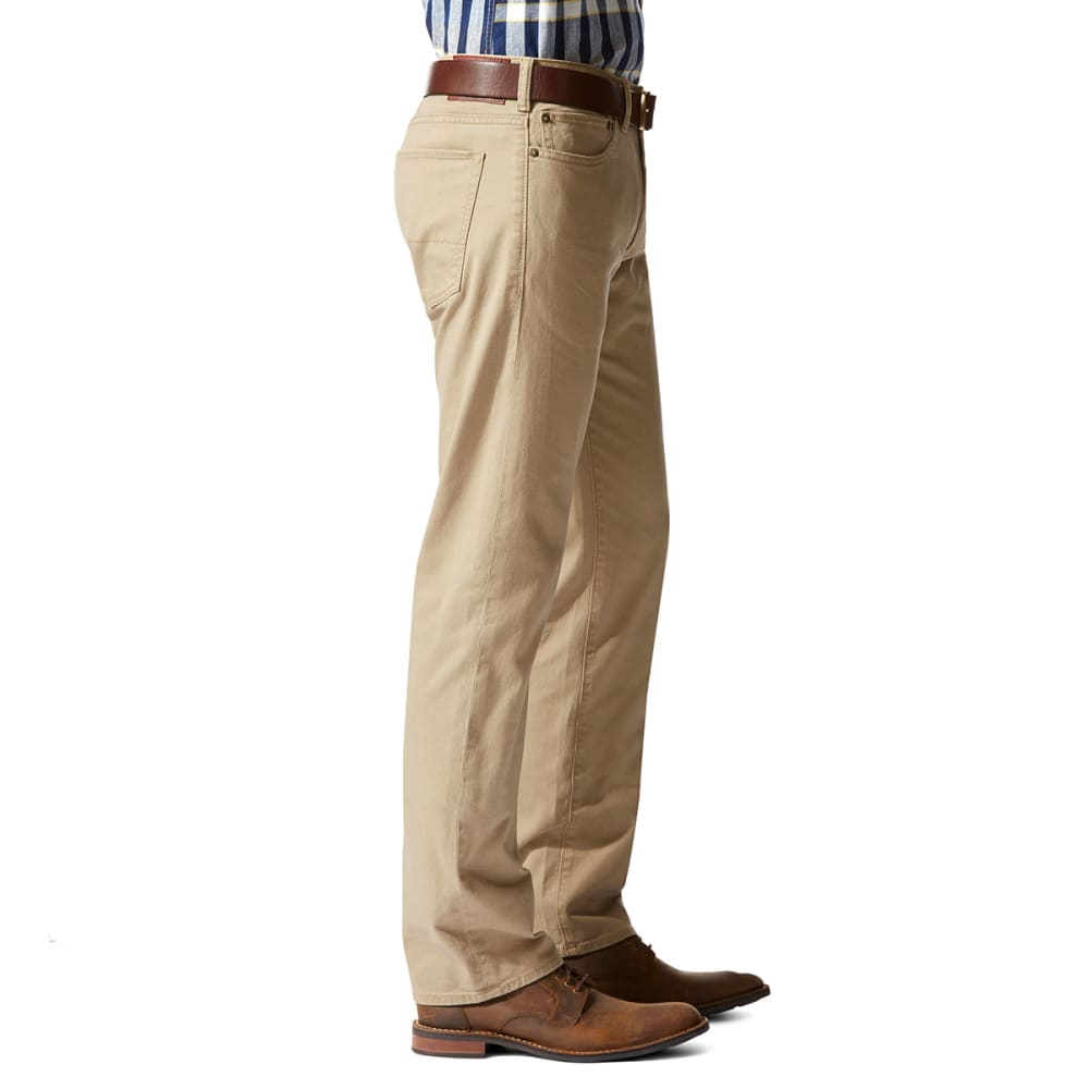 DOCKERS Men's Jean Cut 5-Pocket Straight Leg Twill Pants - BRITISH KHAKI 0001