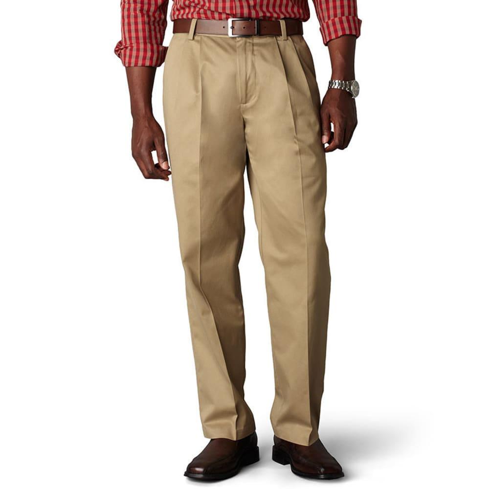 DOCKERS Men's Signature Khaki Classic Fit Pleated Pants, Extended sizes - DARK KHAKI