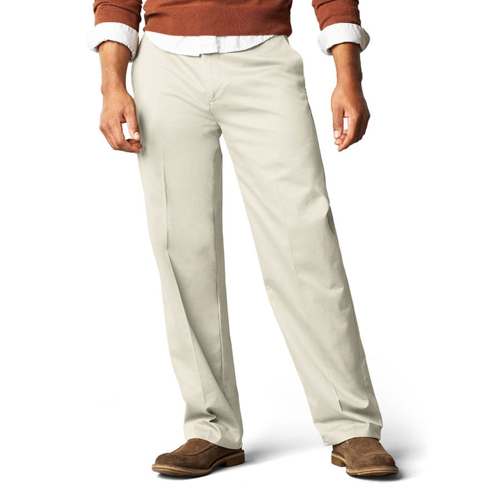 DOCKERS Men's Signature Khaki Classic Fit Flat Front Pants, Extended Sizes - CLOUD
