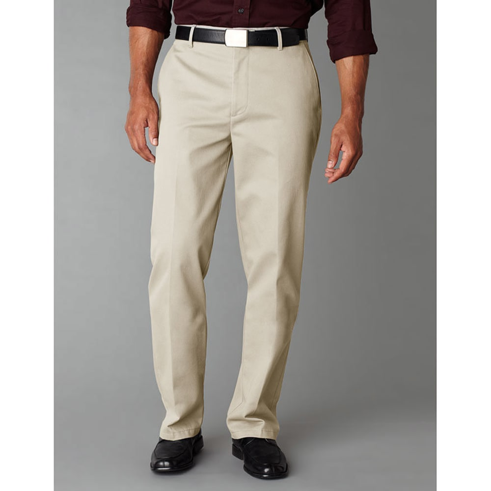 DOCKERS Stain Defender Flat Front Pants - Discontinued Style - CLOUD