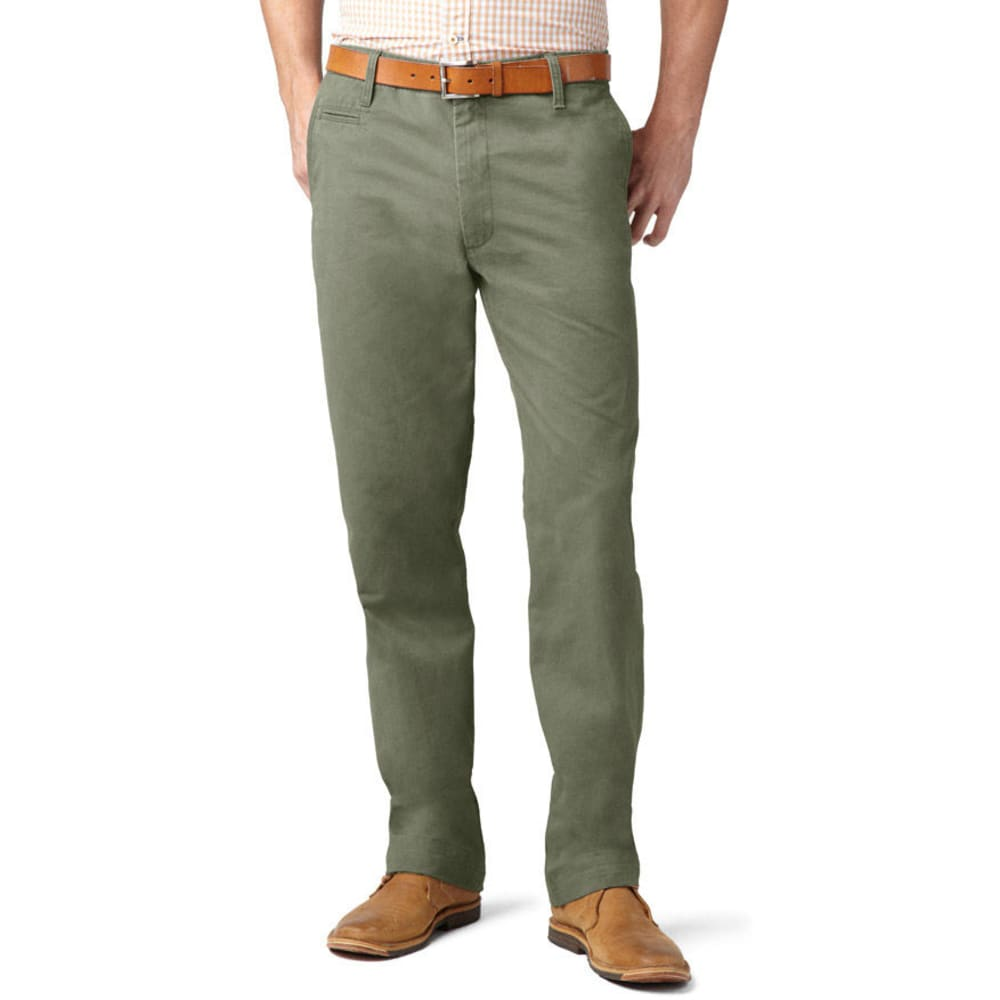 DOCKERS Men's Off The Clock Khaki D2 Straight Fit Pants - Discontinued Style - OREGANO