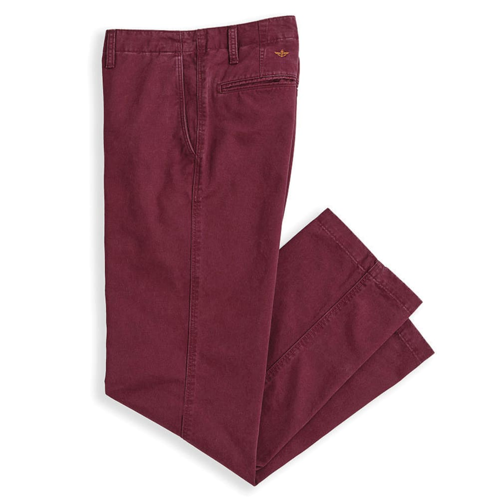 DOCKERS Men's Off The Clock Khaki D2 Straight Fit Pants - Discontinued Style - WINETASTING