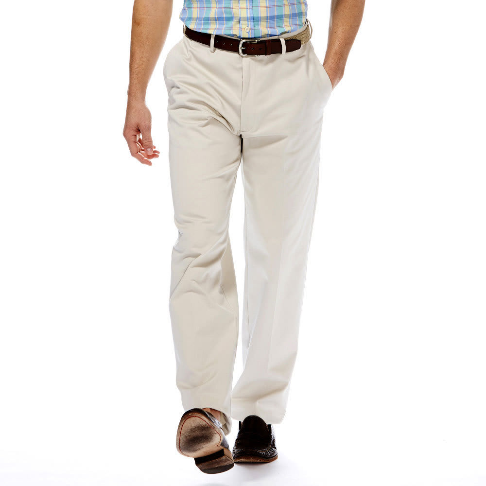 HAGGAR Work-to-Weekend Flat Front Khakis - STRING 21