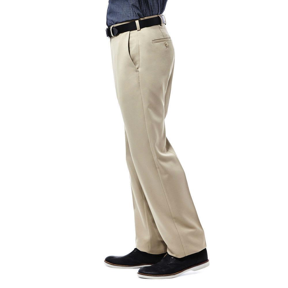 HAGGAR Cool 18 Flat Front Pants - BRITISH KHAKI-71