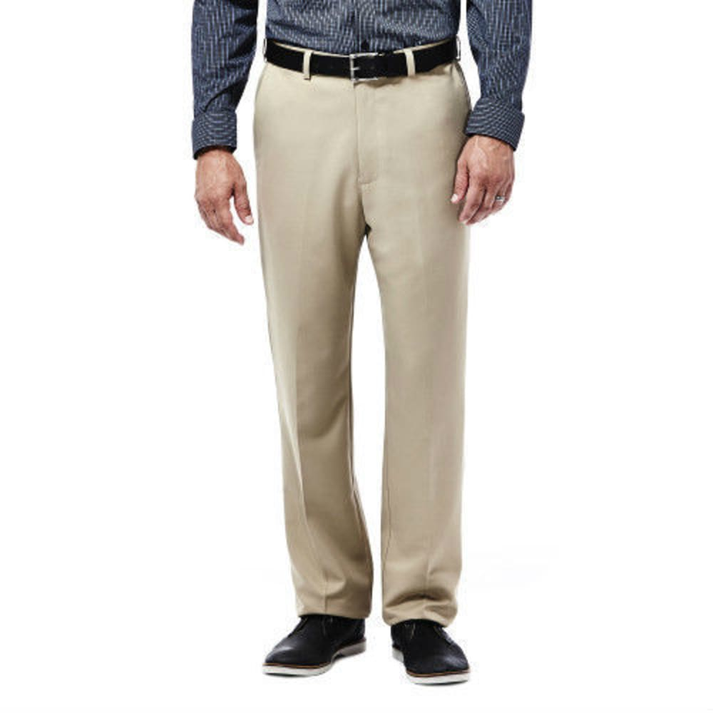 HAGGAR Cool 18 Flat Front Pants - BRITISH KHAKI-71