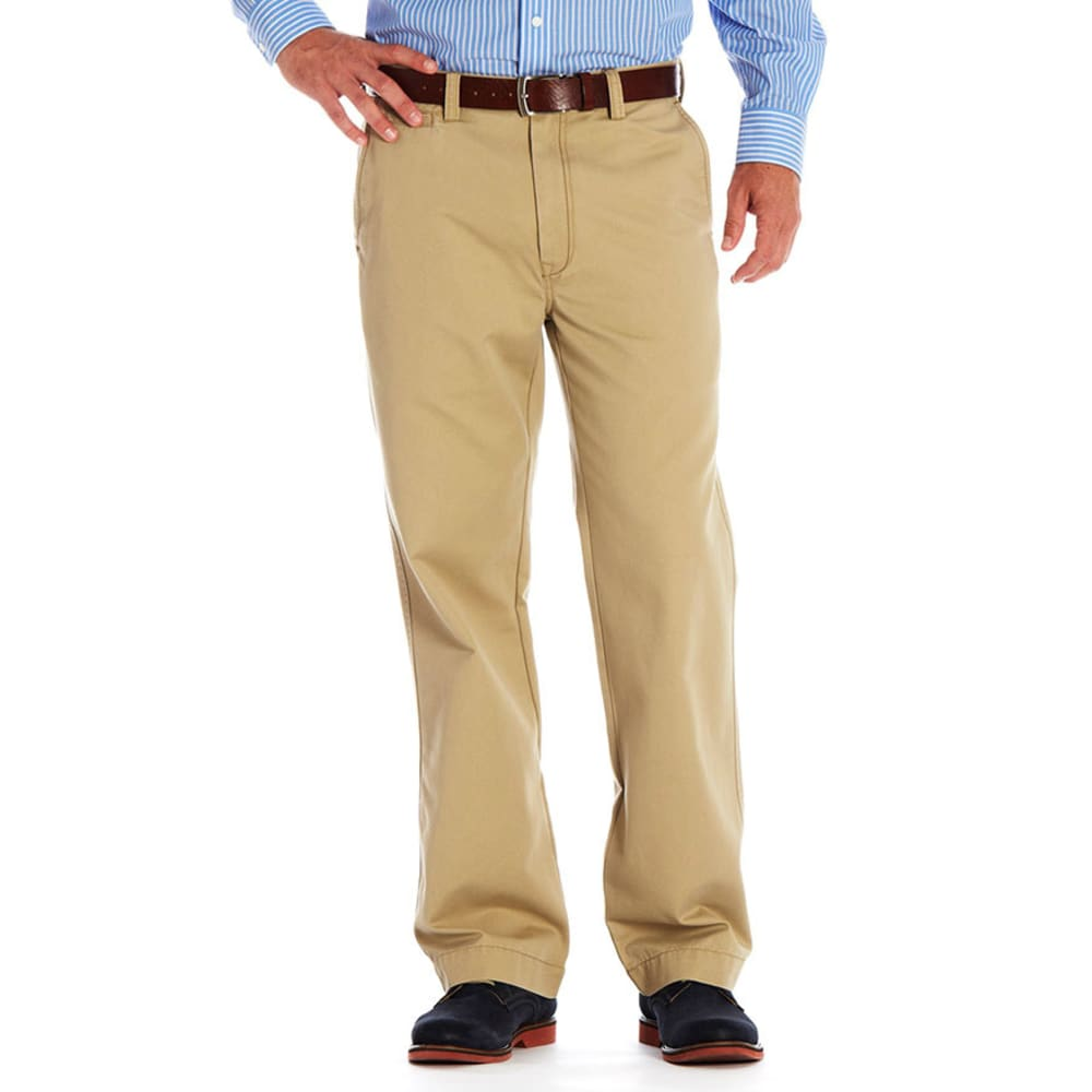 HAGGAR Men's Life Straight Fit Pants - Discontinued Style - KHAKI