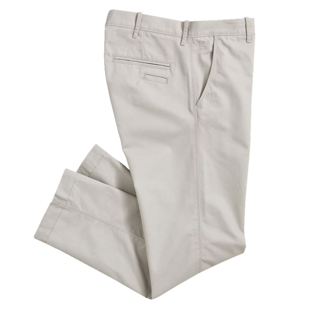 HAGGAR Men's Life Slim Fit Pants - Discontinued Style - SILVER BEIGE