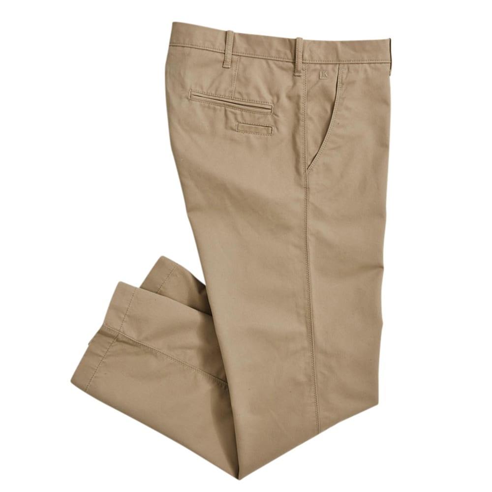 HAGGAR Men's Life Slim Fit Pants - Discontinued Style - KHAKI