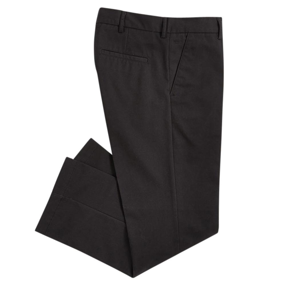 HAGGAR Men's Standard Fit Flat Front Pants - BLACK