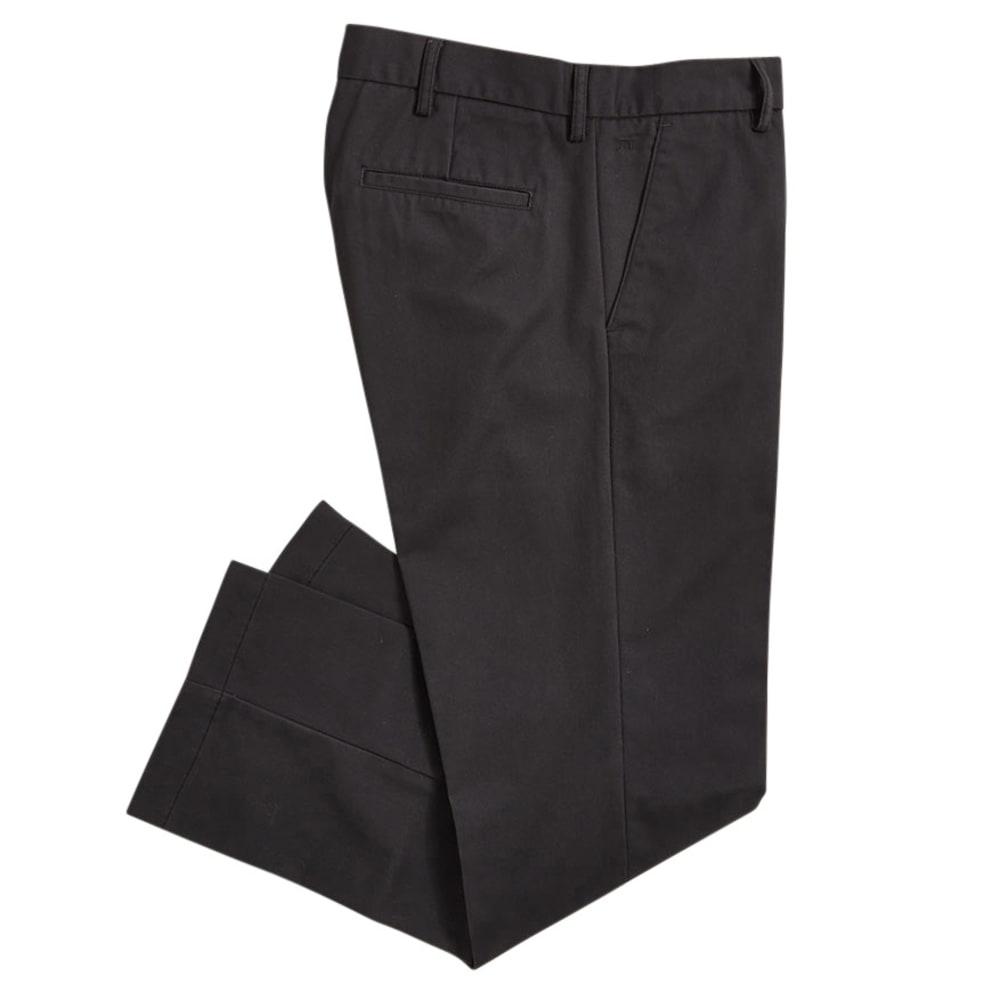 HAGGAR Men's Standard Fit Flat Front Pants - GREY