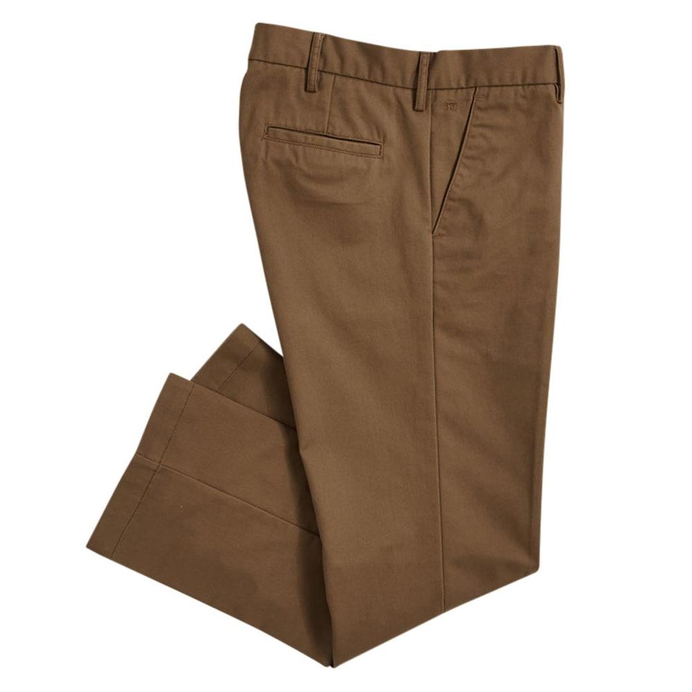 HAGGAR Men's Standard Fit Flat Front Pants - BROWN