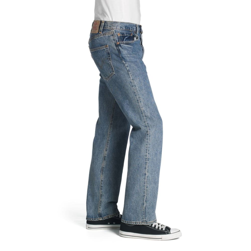 LEVI'S Men's 501 Original Fit Jeans - STONEWASH 0193