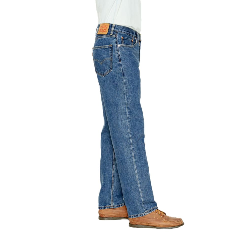 LEVI'S Men's 550 Relaxed Fit Jeans - MED STONEWASH 4891