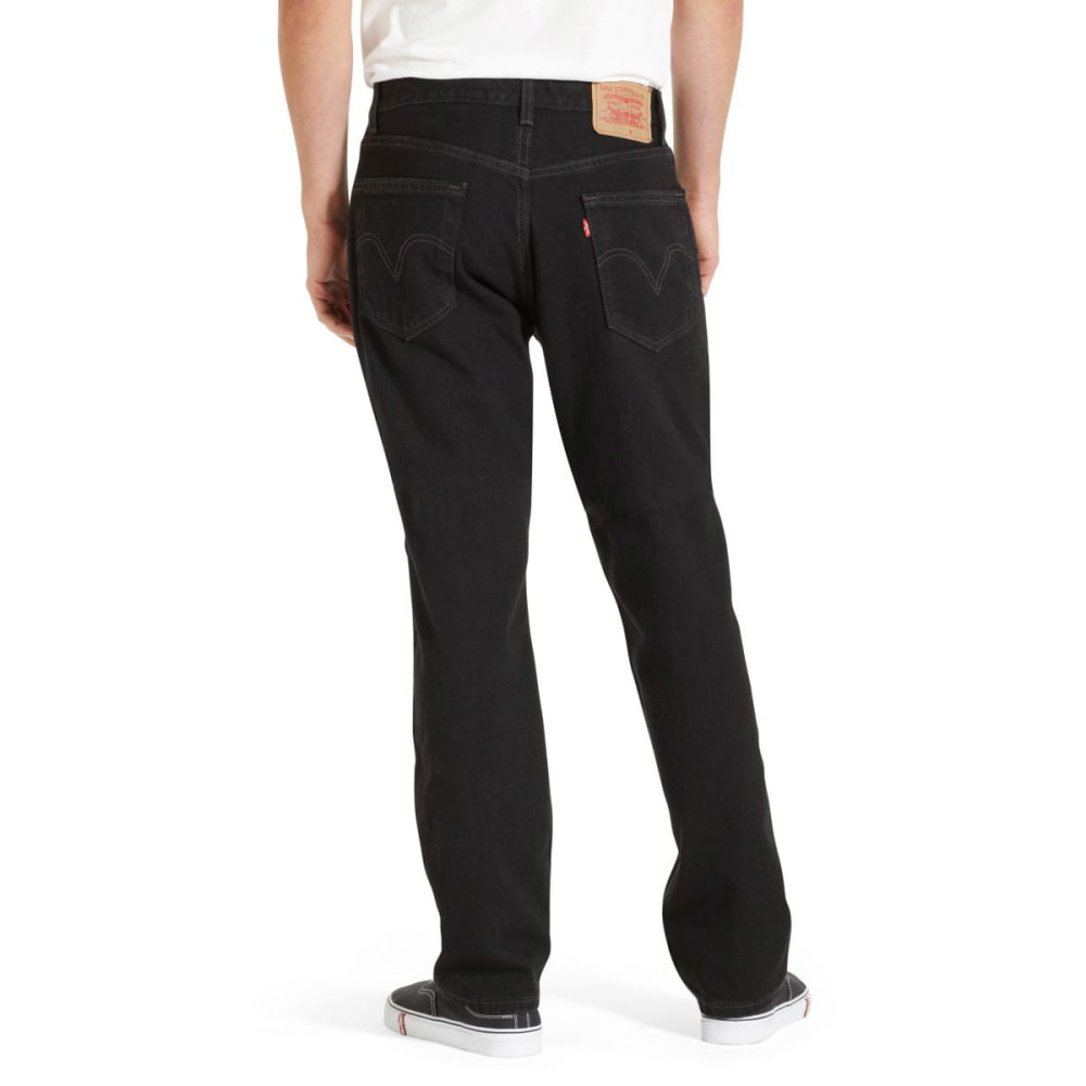 LEVI'S Men's 505 Regular Fit Jeans - BLACK 0260