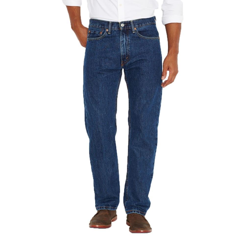 LEVI'S Men's 505 Regular Fit Jeans - DARK STONEWASH 4886