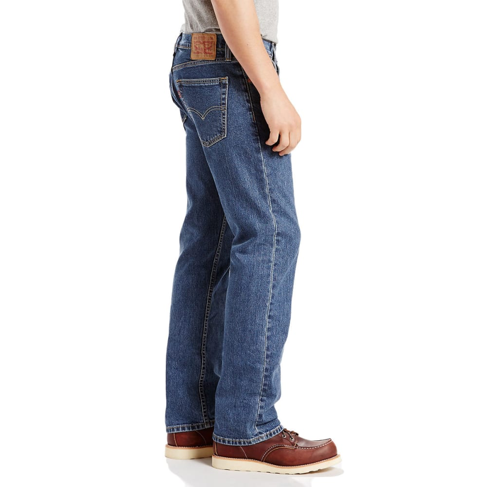 LEVI'S Men's 505 Regular Fit Jeans - STNWSH STRETCH 1454