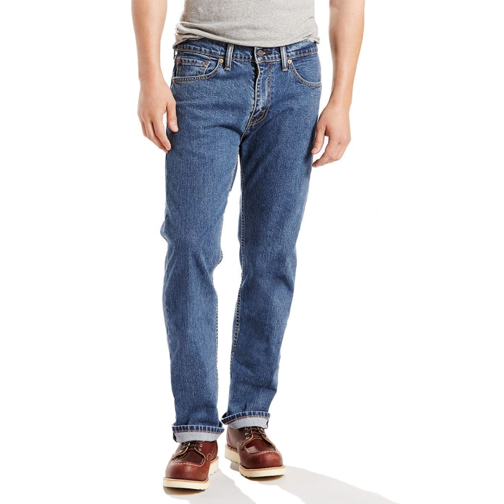LEVI'S Men's 505 Regular Fit Jeans - STNWSH STRETCH 1454