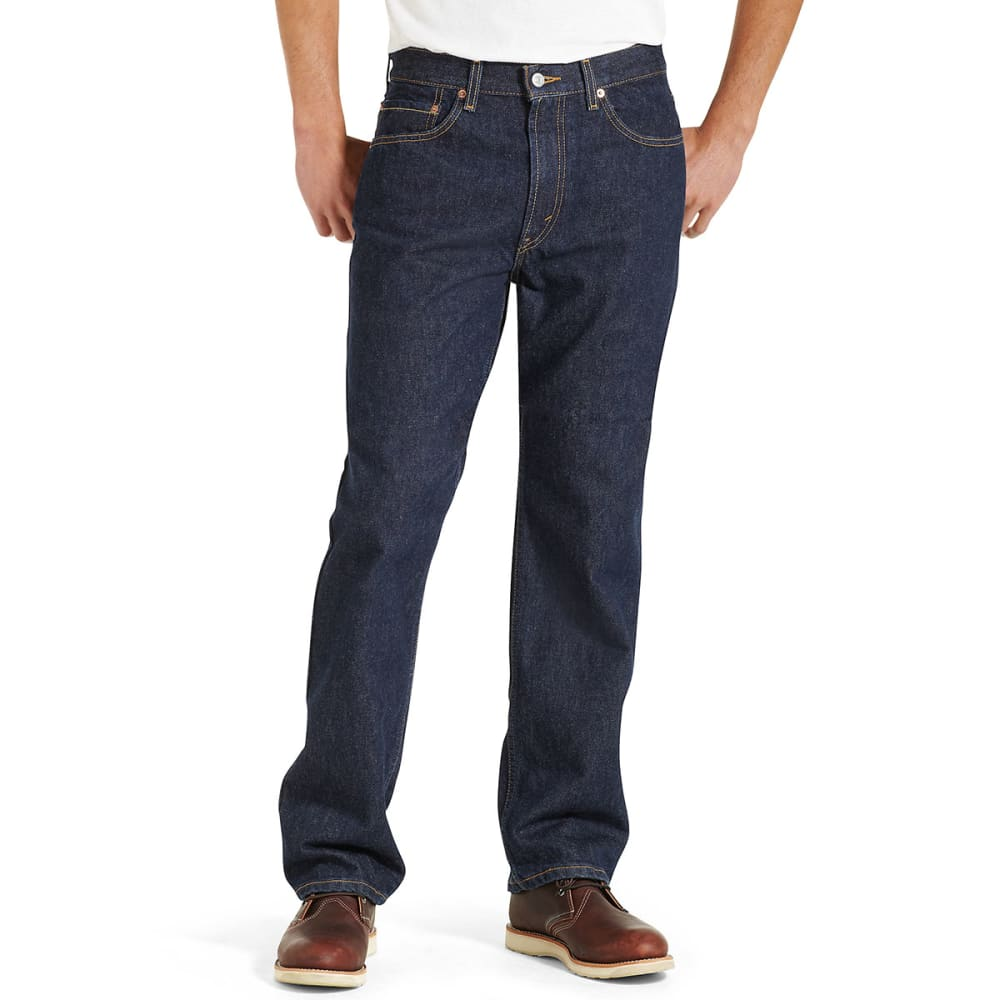LEVI'S Men's 505 Regular Fit Jeans - RINSE 0216