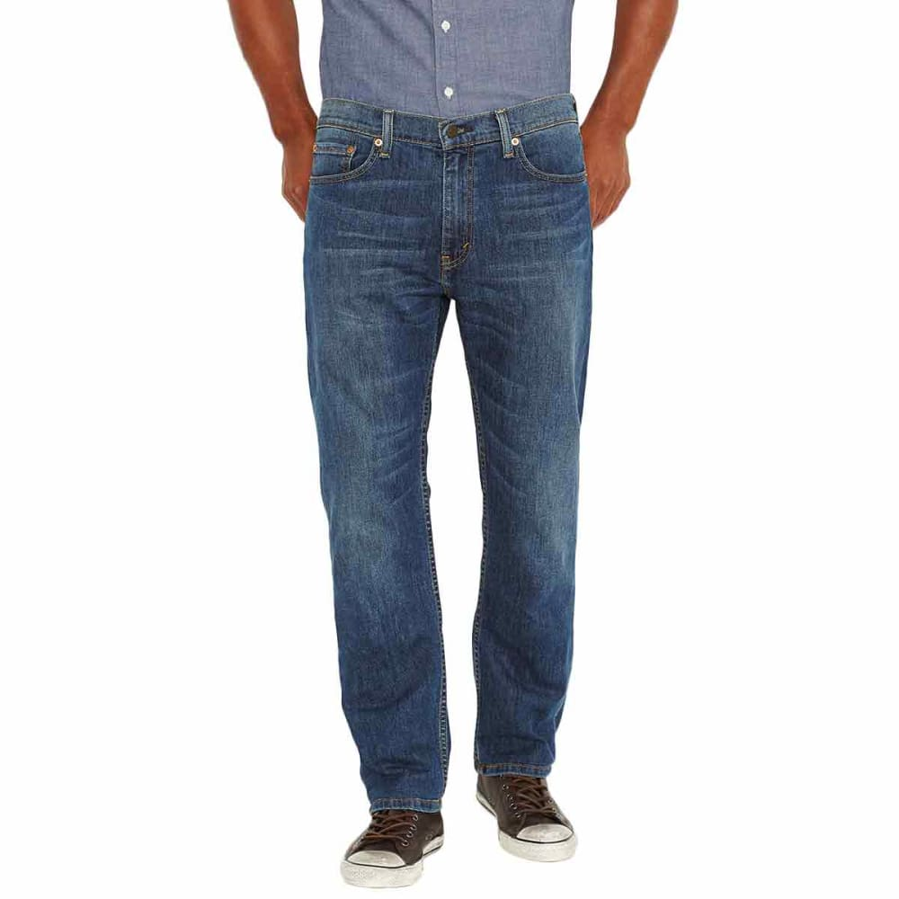 LEVI'S Men's 505 Regular Fit Jeans - STEELY BLUE 1223