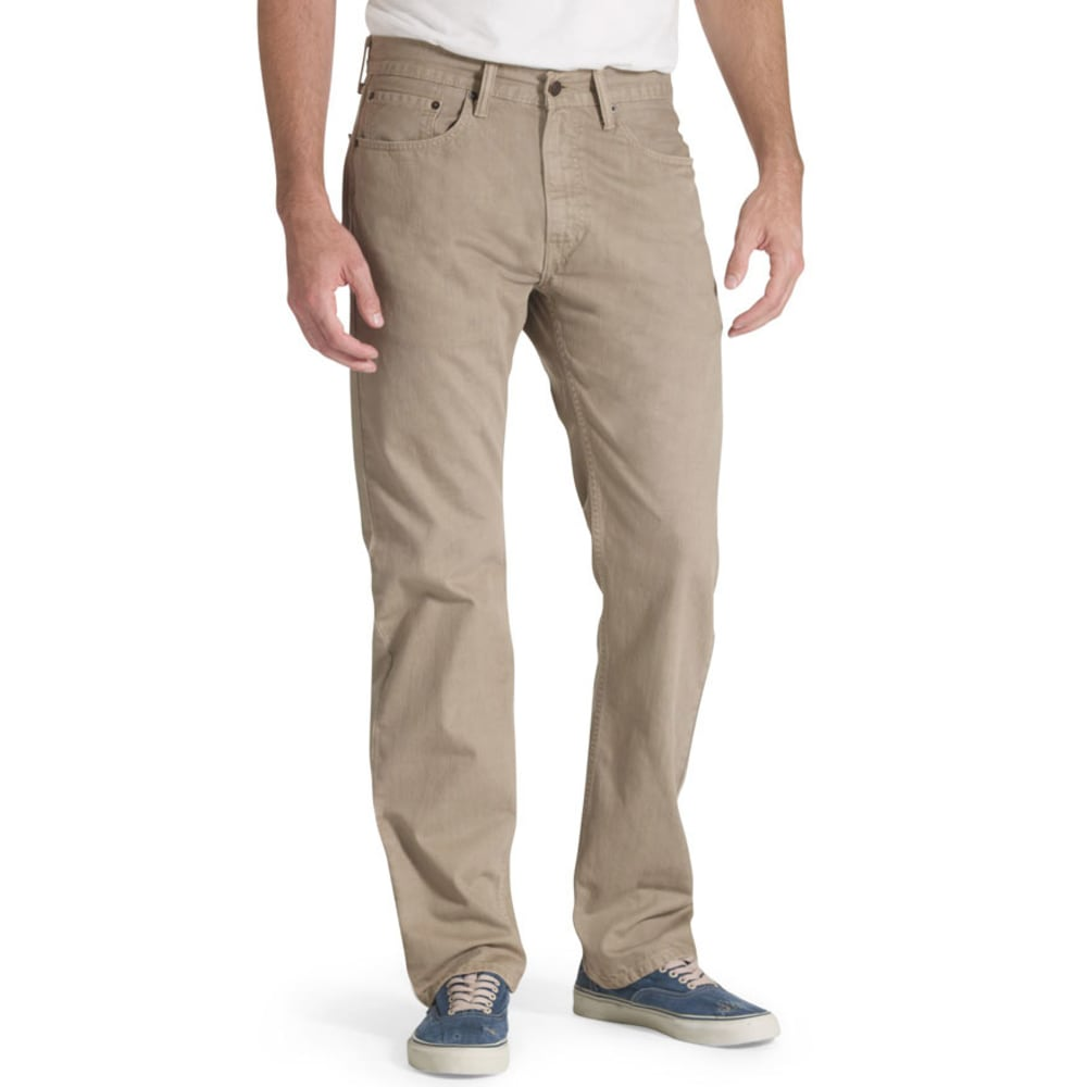 LEVI'S Men's 505 Regular Fit Slub Twill Pants - TIMBERWOLF 0718