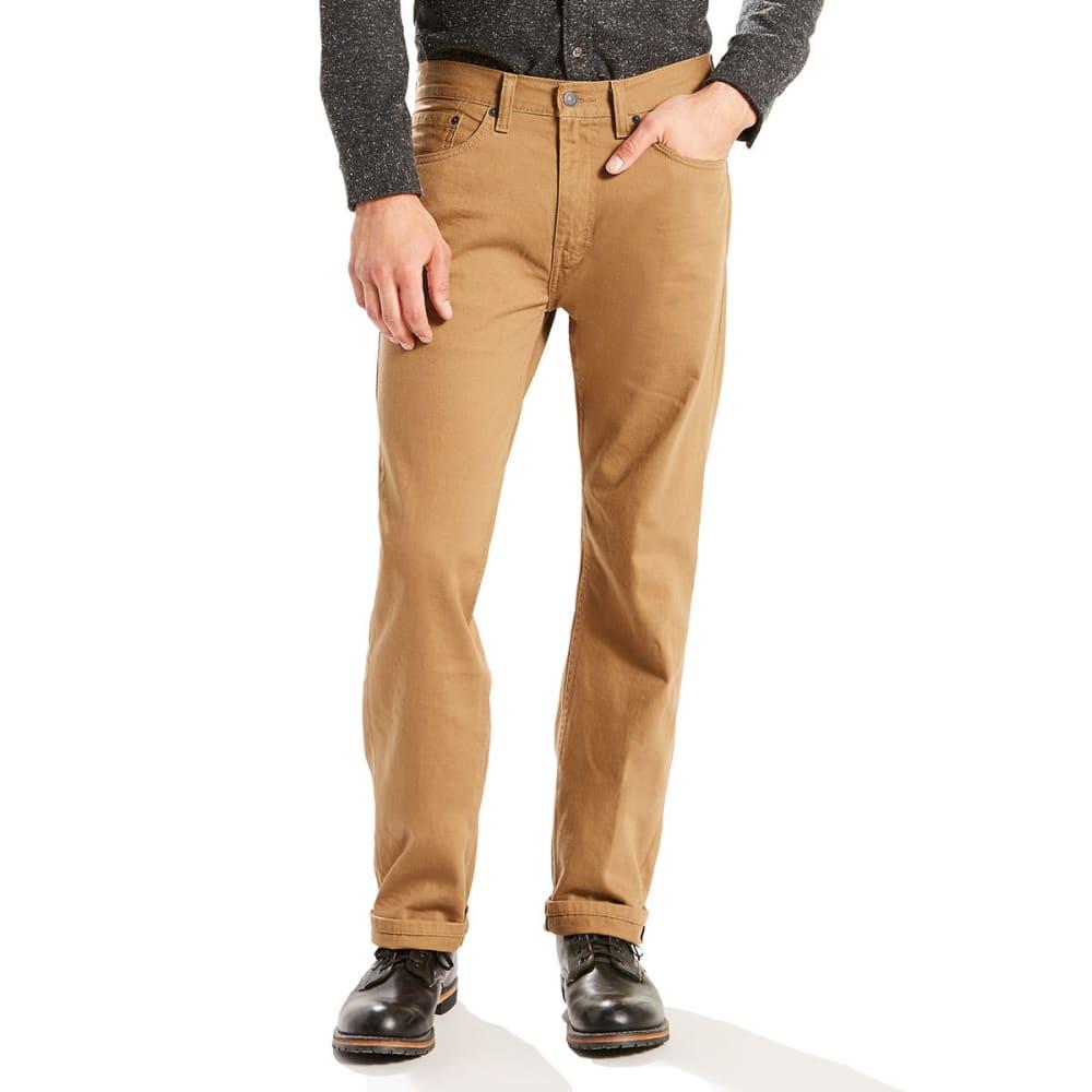 LEVI'S Men's 505 Regular Fit Slub Twill Pants 32/30