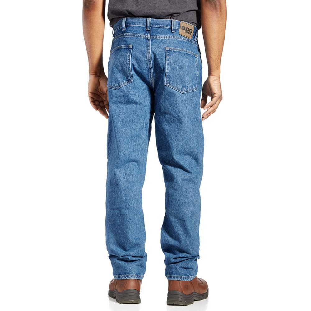 Bcc Men's Relaxed Fit Jeans  - Blue, 34/38