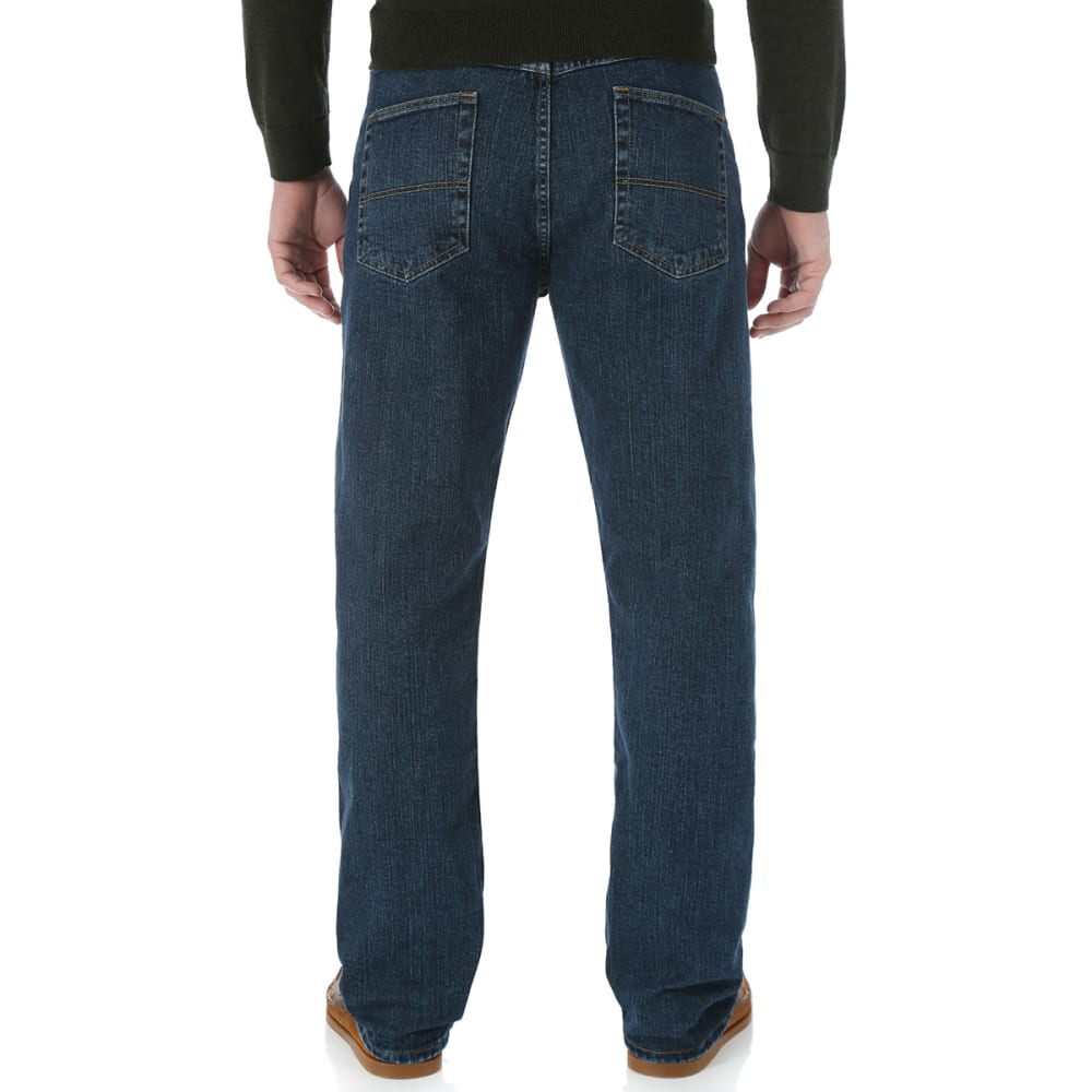 GENUINE WRANGLER Men's Advanced Comfort Regular Fit Jeans - DARK STONE - DS