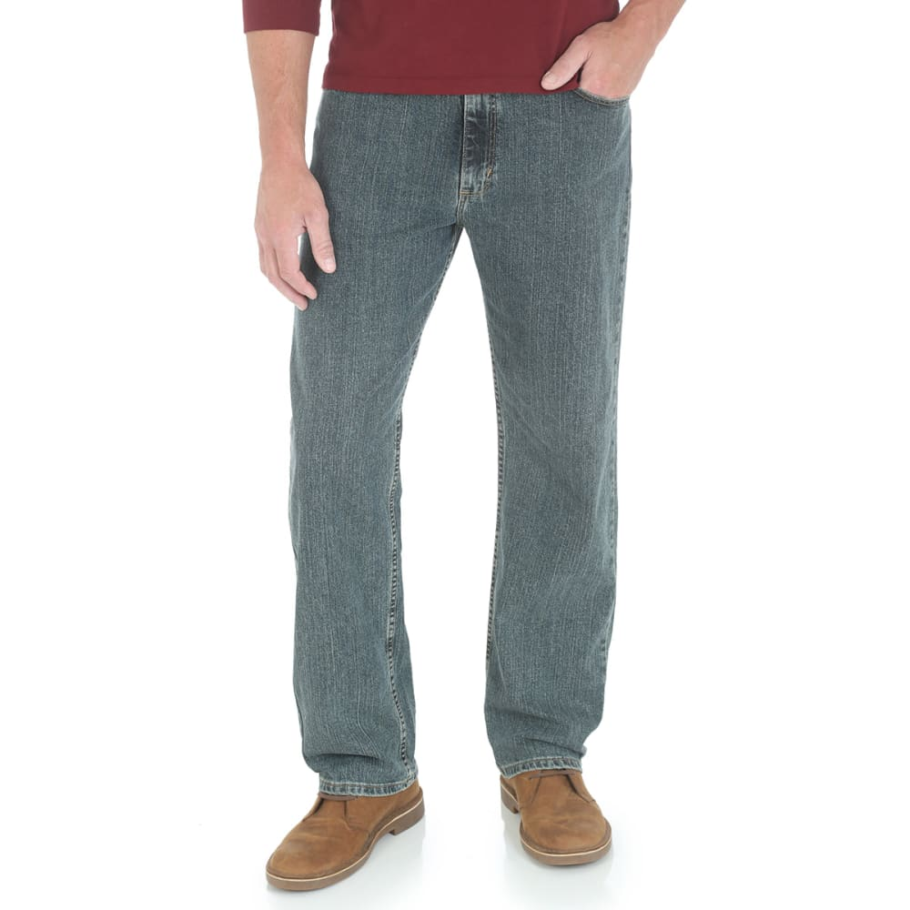 GENUINE WRANGLER Men's Advanced Comfort Relaxed Fit Jeans - GREY TINT -GY