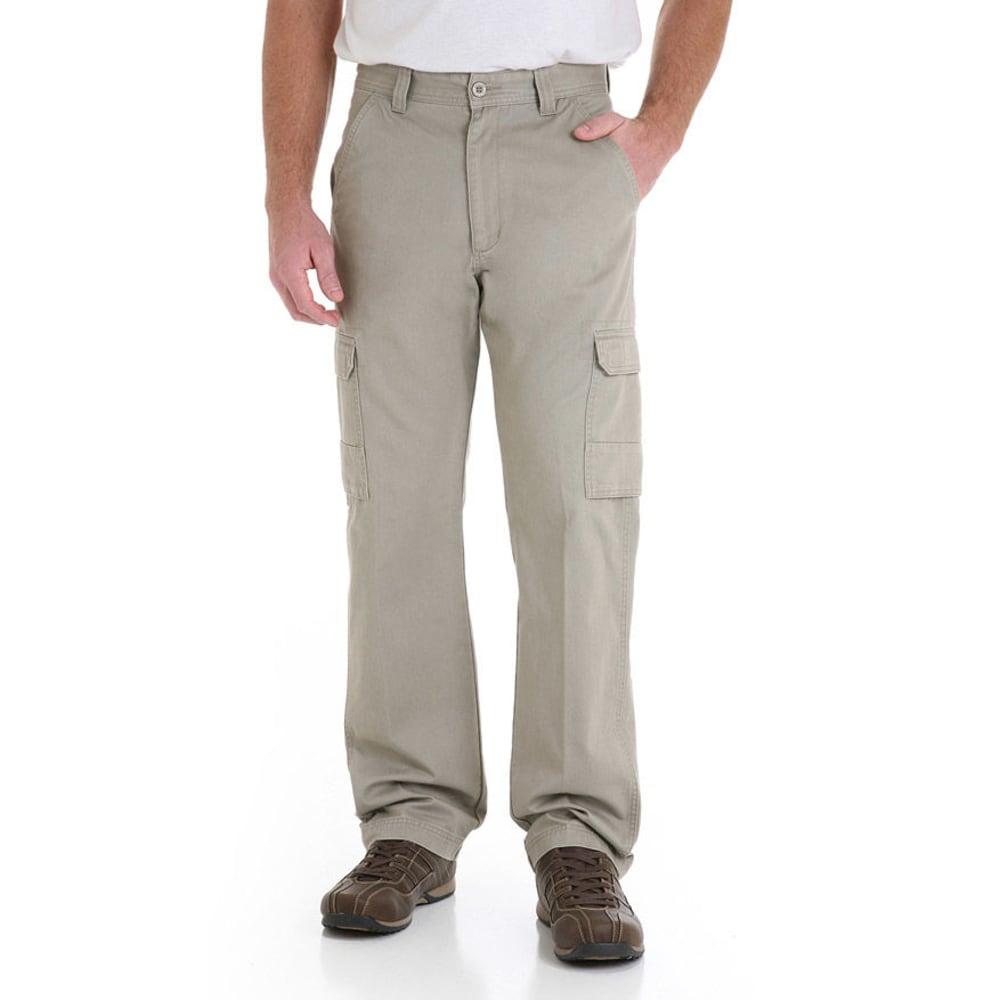 GENUINE WRANGLER Men's Twill Cargo Pants - BURLAP MGW90BR