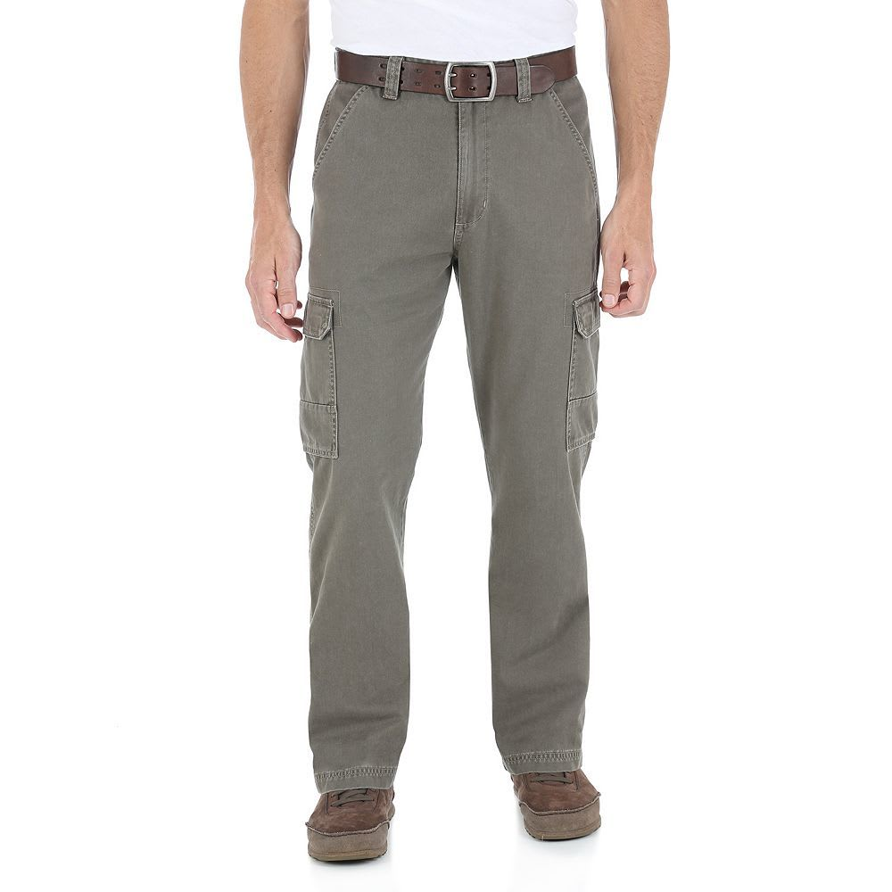 GENUINE WRANGLER Men's Twill Cargo Pants - THISTLE MGW90TH