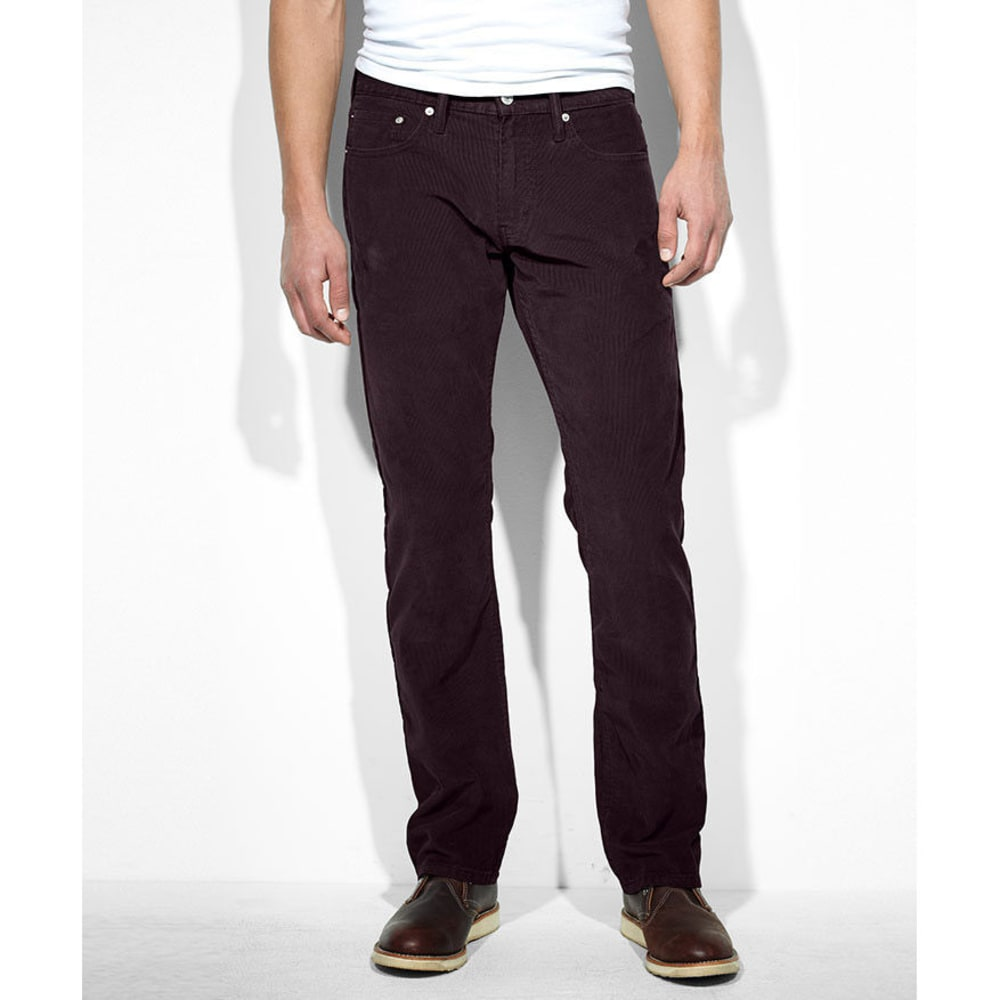 LEVI'S Men's 514 Straight Fit Rinse Cord Pants - Discontinued Style - BURNTWOOD/RINSE CORD