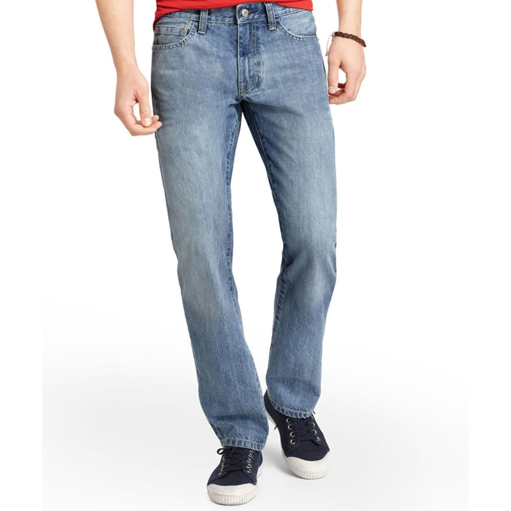 IZOD Men's Denim Straight Fit Jeans - LIGHT VINTAGE