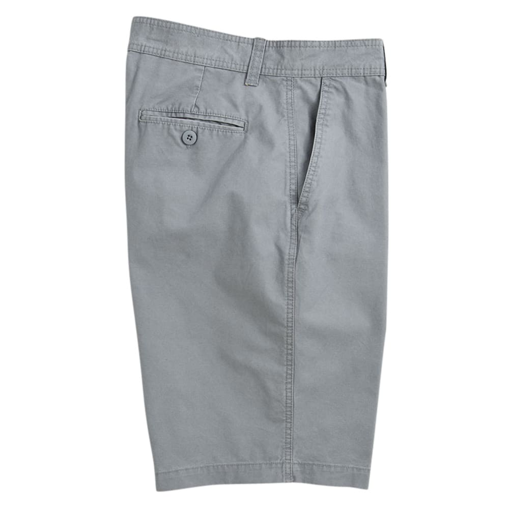 BCC Men's Flat Front Microcanvas Shorts - LIGHT GREY