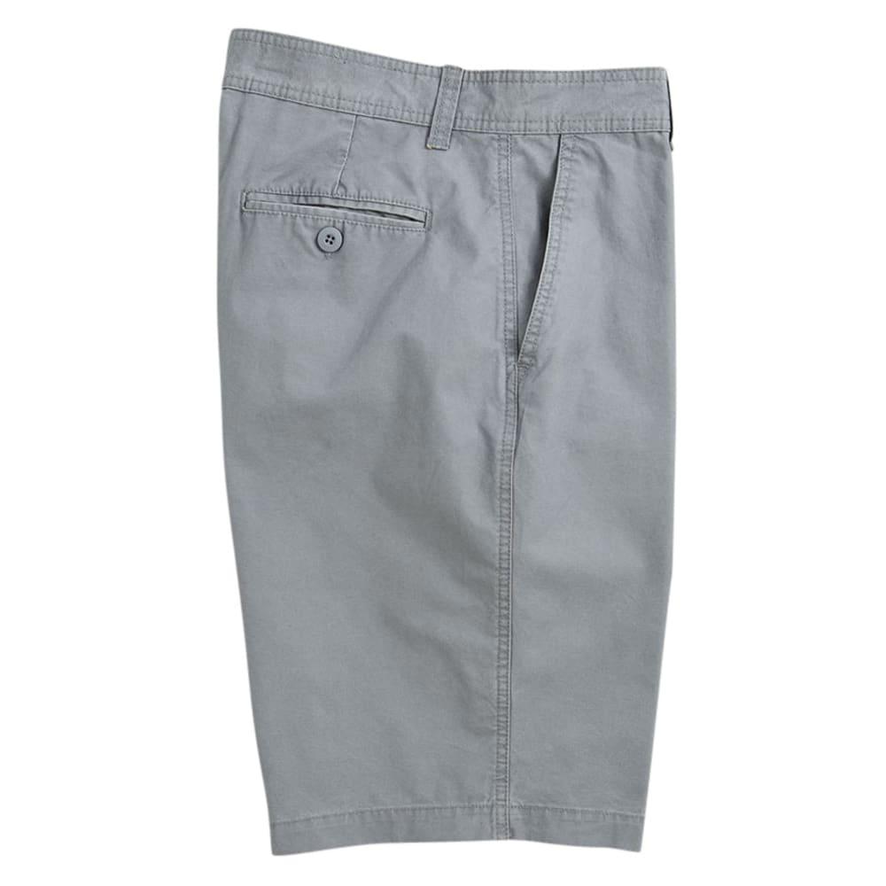 BCC Men's Flat Front Microcanvas Shorts - LIGHT GREY