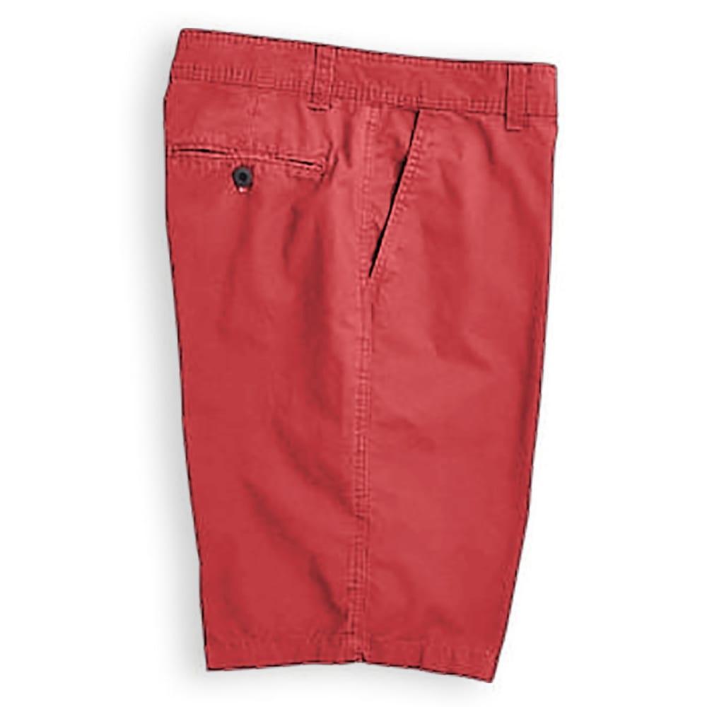 BCC Men's Flat Front Microcanvas Shorts - DARK CRIMSON