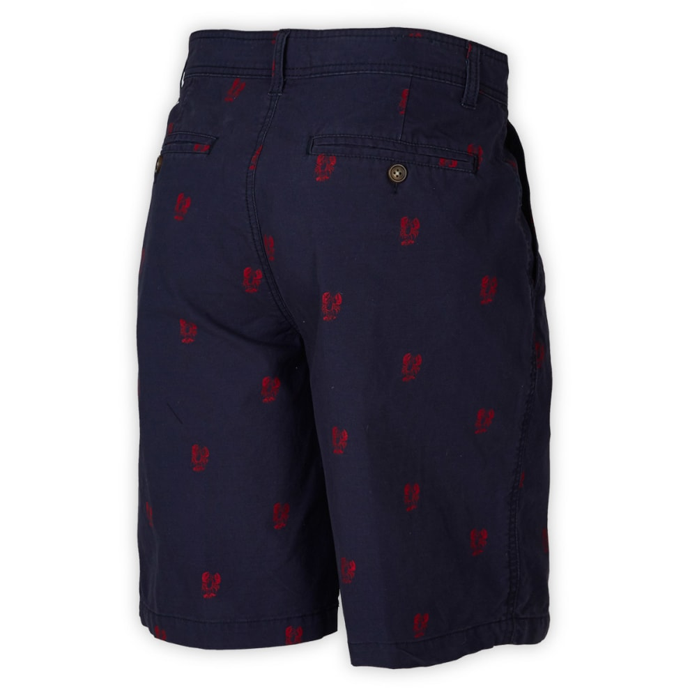 BCC Men's Printed Shorts - NAVY/RED