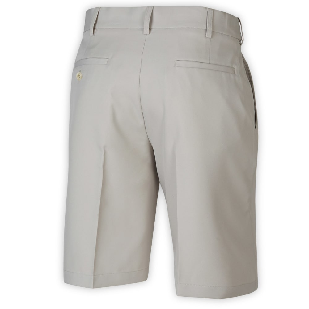 PGA Men's Golf Expandable Waistband Flat Front Short - SILVER