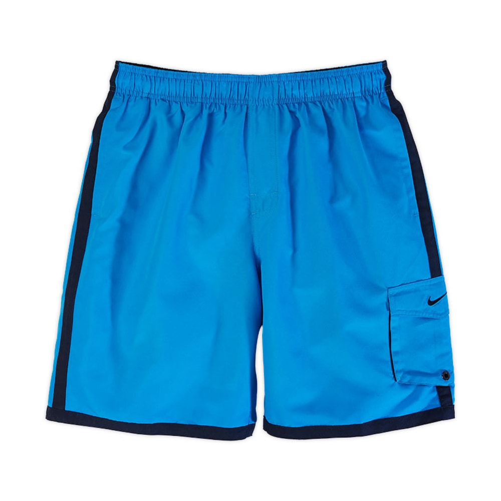 NIKE Young Men's Core 9 in. Cargo Volley Shorts BLOWOUT - PHOTO BLUE