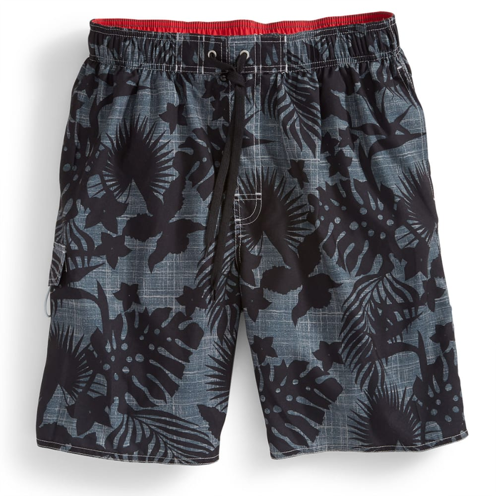 NEWPORT BLUE Men's Sea Worthy Volley Swim Shorts - BLACK