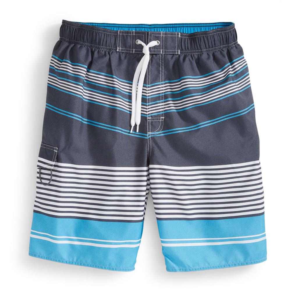 NEWPORT BLUE Men's at a Slant Board Shorts - BLACK/BLUE