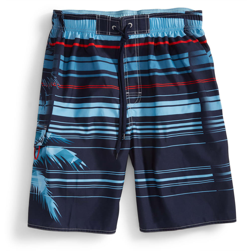 NEWPORT BLUE Men's Double Take Volley Swim Shorts - BLUE/RED