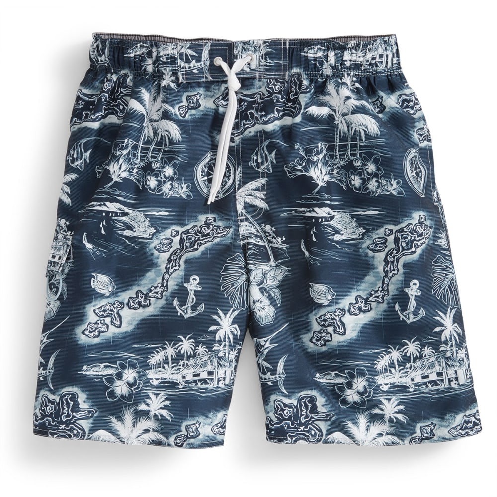 NEWPORT BLUE Men's Private Island Hopper Swimsuit - BLUE/WHITE