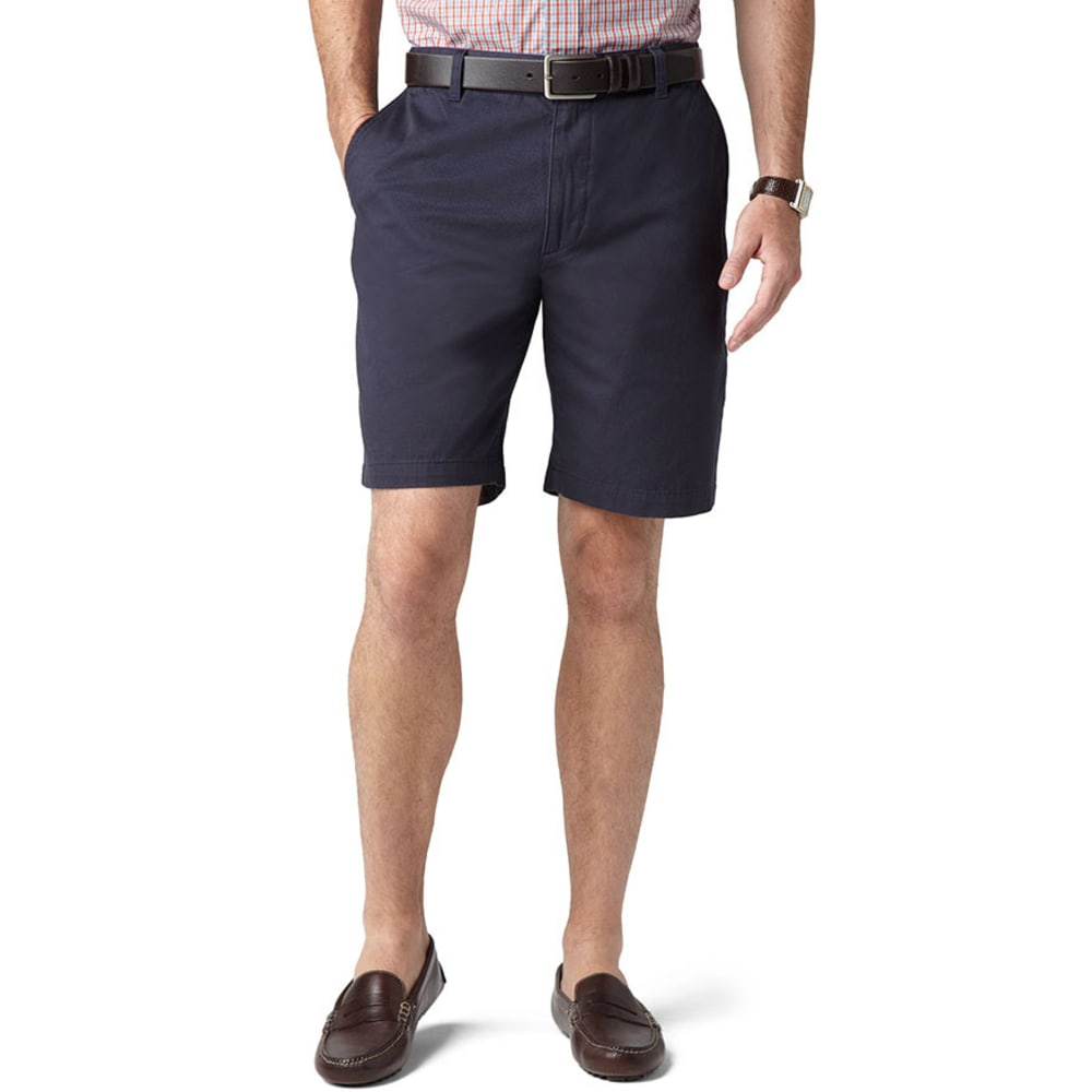DOCKERS Men's Perfect Flat Front Shorts - MARITIME BLUE