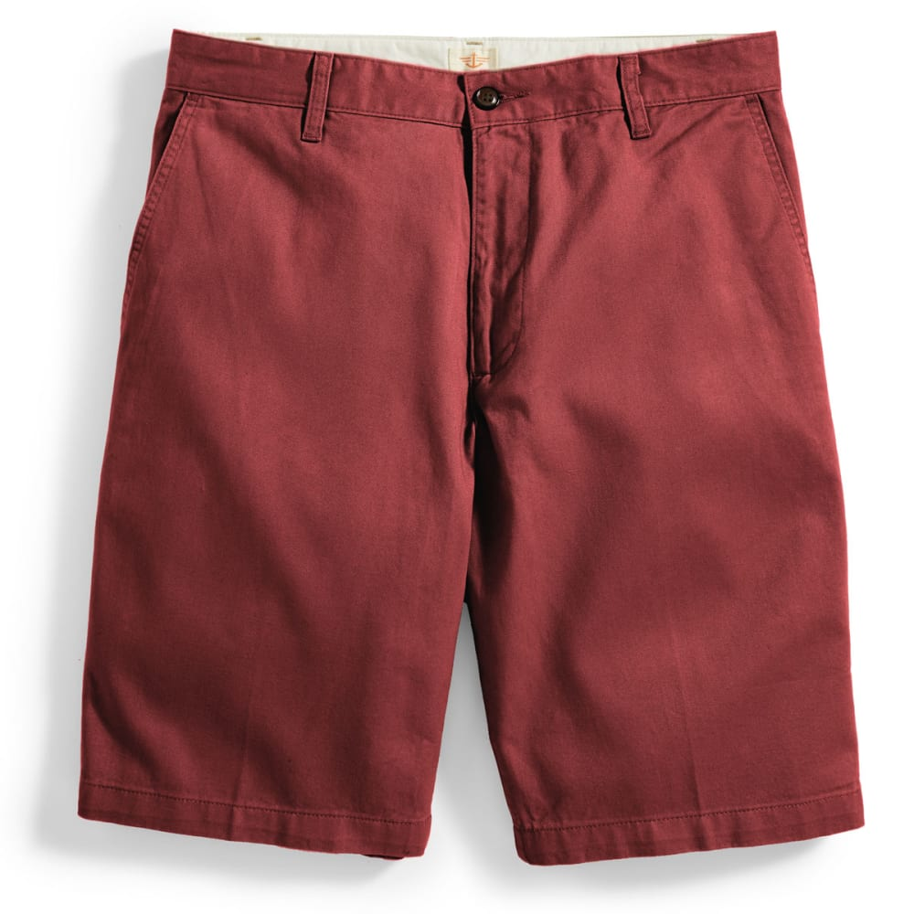 DOCKERS Men's Perfect Flat-Front Shorts - RED BROWN/BLACK