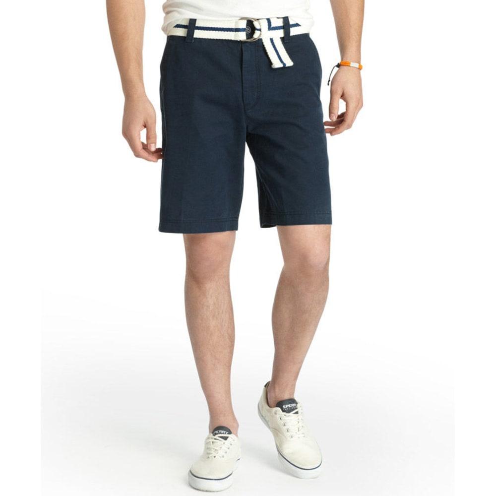 IZOD Men's Saltwater Flat Front Shorts - 470-MIDNIGHT