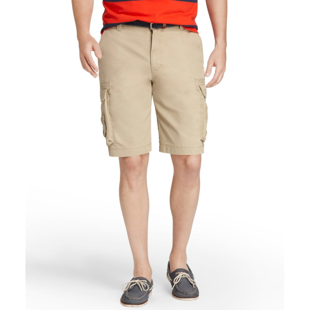 Izod Men's Saltwater Cargo Shorts - CEDARWOOD KHAKI