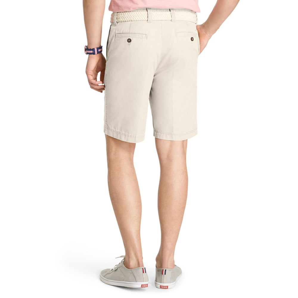 IZOD Men's Big & Tall Saltwater Flat-Front Shorts - STONE-278