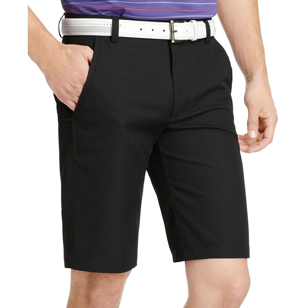 IZOD Men's Microfiber Khaki Shorts - BLACK/STEEL/TROPICAL